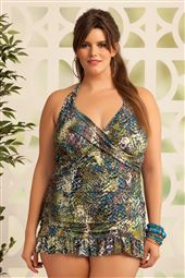 One Piece Halter Swimdress
