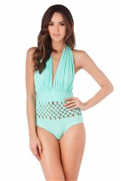 One Piece Plunge Halter